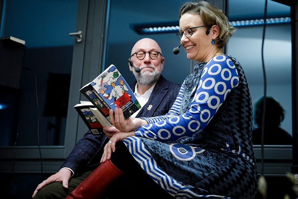 Jürgen Kehrer, Wilsberg-Autor und Sandra Lüpkes, Schriftstellerin